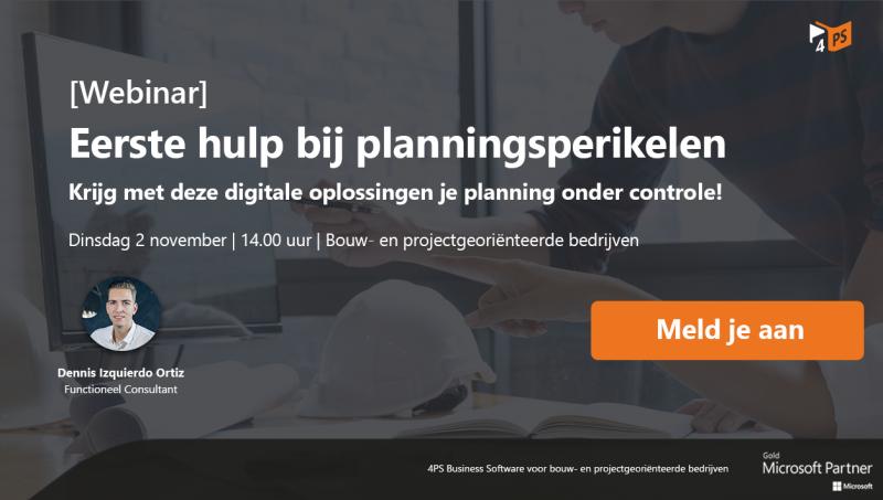 Webinar: efficiënter plannen