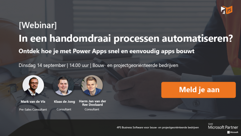 Webinar: apps bouwen met Power Apps