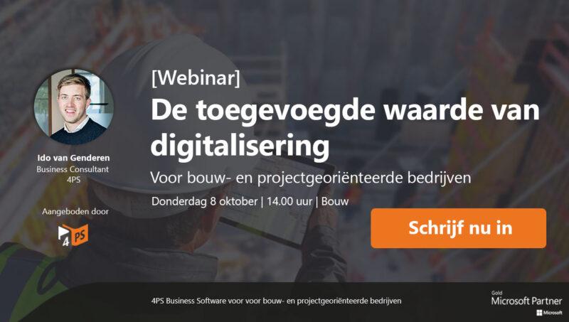 Webinar Digitalisering in de bouw