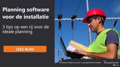 Planningssoftware voor de installatie