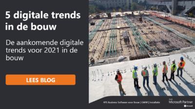 Blog: niet te missen digitale trends 2021 voor de bouw